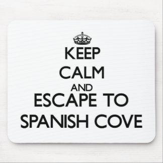 Guarde la calma y escápese a la ensenada española tapete de ratón