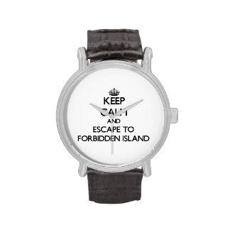 Guarde la calma y escápese a la isla prohibida reloj