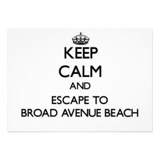 Guarde la calma y escápese a la playa amplia la invitaciones personales