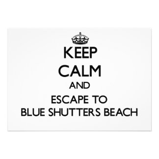Guarde la calma y escápese a la playa azul Rhode Invitacion Personalizada