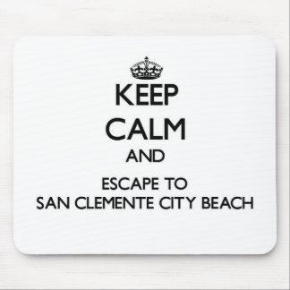 Guarde la calma y escápese a la playa Ca de la Alfombrilla De Ratón