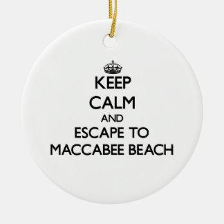 Guarde la calma y escápese a la playa California Adorno Redondo De Cerámica