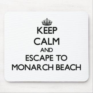 Guarde la calma y escápese a la playa California Alfombrillas De Ratones