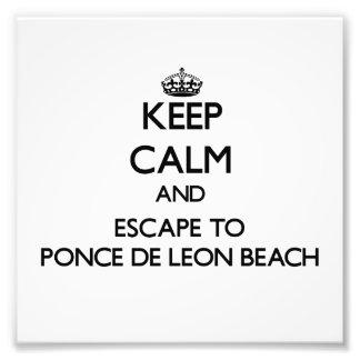Guarde la calma y escápese a la playa de Ponce De Impresiones Fotograficas