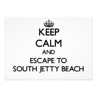 Guarde la calma y escápese a la playa del sur la comunicado personal