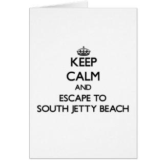 Guarde la calma y escápese a la playa del sur la felicitación