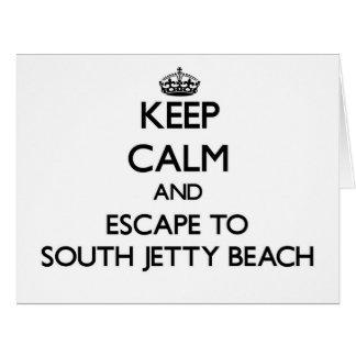 Guarde la calma y escápese a la playa del sur la felicitacion