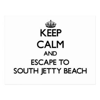 Guarde la calma y escápese a la playa del sur la postal