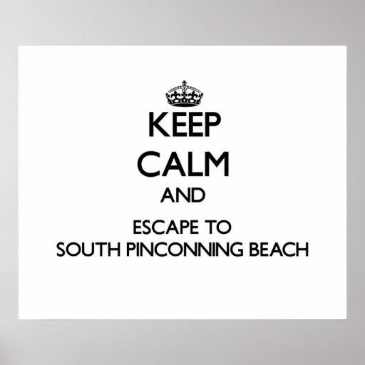Guarde la calma y escápese a la playa del sur Mic Posters