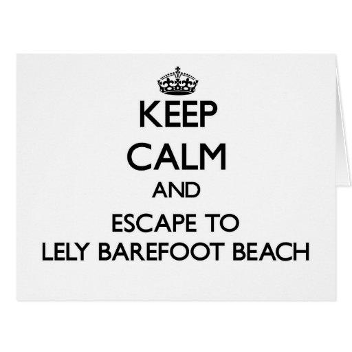 Guarde la calma y escápese a la playa descalza de felicitaciones