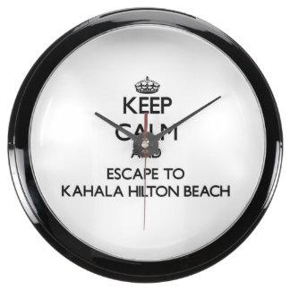 Guarde la calma y escápese a la playa Hawaii de Reloj Aqua Clock