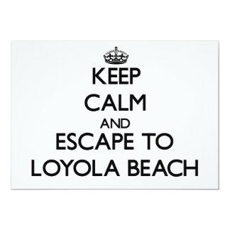 """Guarde la calma y escápese a la playa Illinois de Invitación 5"""" X 7"""""""