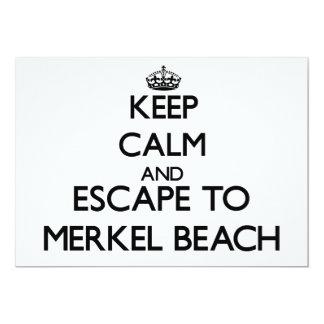 Guarde la calma y escápese a la playa invitación 12,7 x 17,8 cm