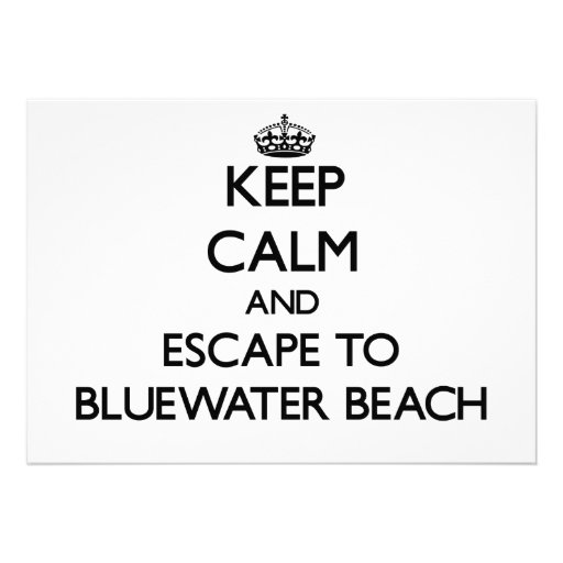 Guarde la calma y escápese a la playa la Florida Invitacion Personalizada