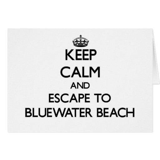 Guarde la calma y escápese a la playa la Florida Tarjeta