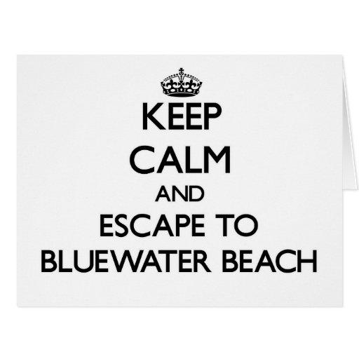 Guarde la calma y escápese a la playa la Florida Felicitacion