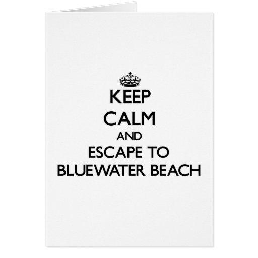 Guarde la calma y escápese a la playa la Florida Felicitación