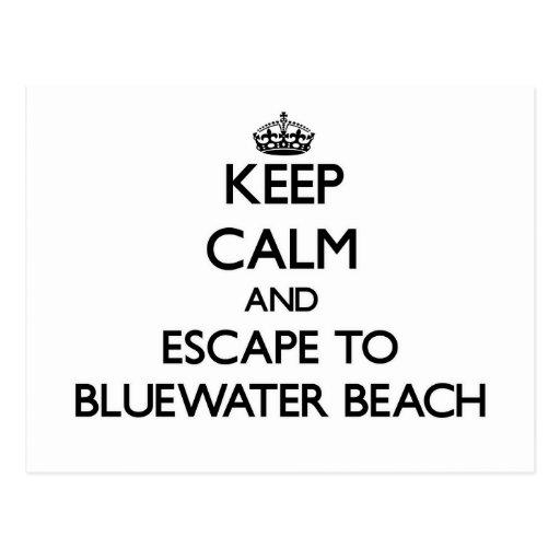 Guarde la calma y escápese a la playa la Florida Tarjetas Postales