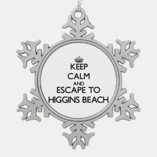 Guarde la calma y escápese a la playa Maine de Adorno De Peltre En Forma De Copo De Nieve