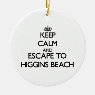 Guarde la calma y escápese a la playa Maine de Adorno Redondo De Cerámica