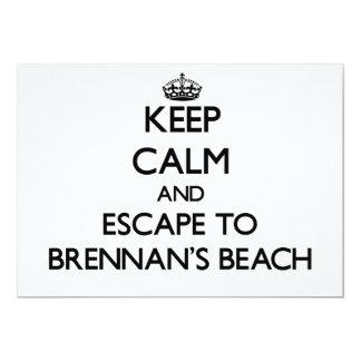 """Guarde la calma y escápese a la playa Nueva York Invitación 5"""" X 7"""""""