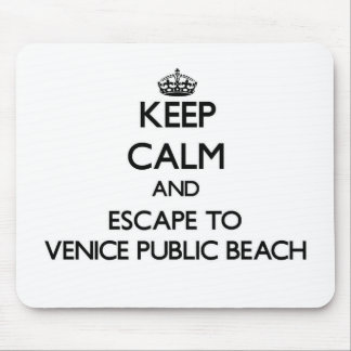 Guarde la calma y escápese a la playa pública de alfombrillas de ratón