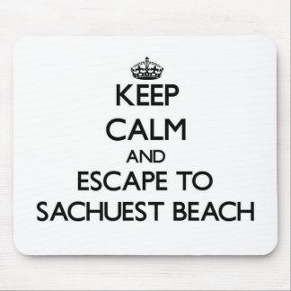 Guarde la calma y escápese a la playa Rhode Islan Alfombrilla De Raton