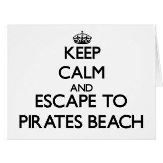 Guarde la calma y escápese a la playa Tejas de los Felicitación