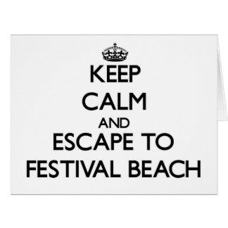 Guarde la calma y escápese a la playa Virginia del Tarjetas