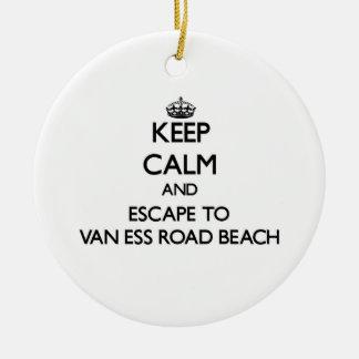Guarde la calma y escápese a la playa Wiscons de Adorno Redondo De Cerámica
