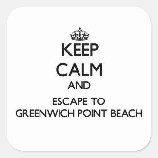 Guarde la calma y escápese a las conec de la playa colcomanias cuadradases