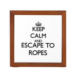 Guarde la calma y escápese a las cuerdas