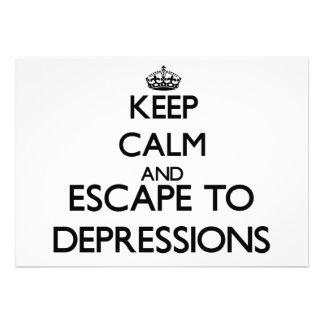 Guarde la calma y escápese a las depresiones anuncios