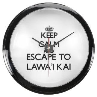 Guarde la calma y escápese a Lawa'I Kai Hawaii Reloj Acuario