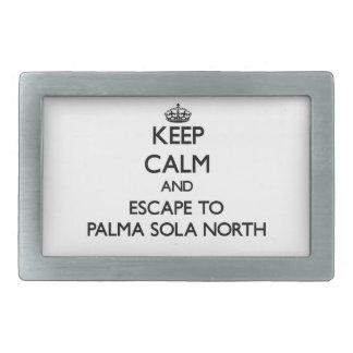 Guarde la calma y escápese a Palma Sola la Florida Hebillas De Cinturón