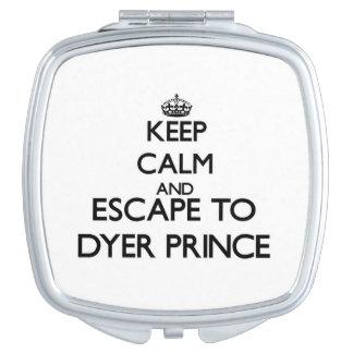 Guarde la calma y escápese a príncipe espejos maquillaje