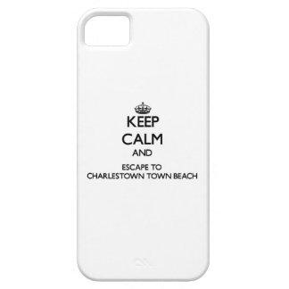 Guarde la calma y escápese a rho de la playa de la iPhone 5 protectores