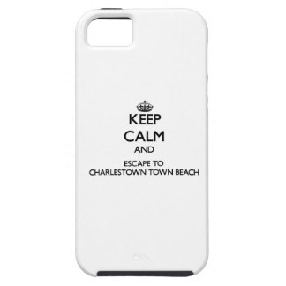 Guarde la calma y escápese a rho de la playa de la iPhone 5 protector