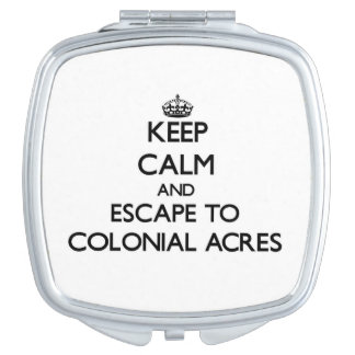 Guarde la calma y escápese al Massachuset colonial Espejo De Viaje