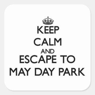 Guarde la calma y escápese al parque Alabama del Pegatina Cuadrada