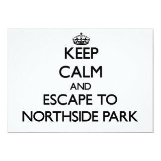 """Guarde la calma y escápese al parque nuevo Hampshi Invitación 5"""" X 7"""""""