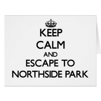 Guarde la calma y escápese al parque nuevo Hampshi Tarjeta De Felicitación Grande