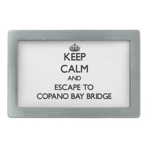 Guarde la calma y escápese al puente Tejas de la Hebillas Cinturón