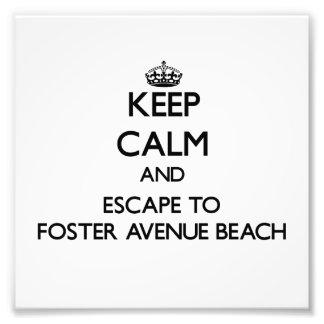 Guarde la calma y escápese para fomentar la playa arte fotografico