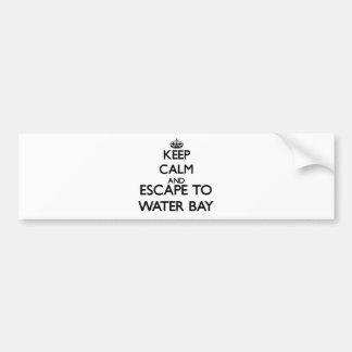 Guarde la calma y escápese para regar las Islas Etiqueta De Parachoque