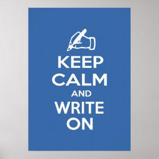 Guarde la calma y escriba en meme impresiones