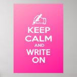 Guarde la calma y escriba en meme poster