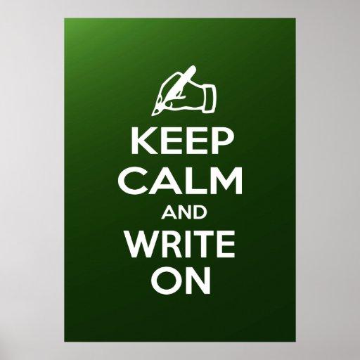 Guarde la calma y escriba en meme posters