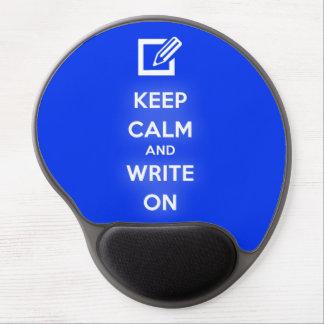 Guarde la calma y escriba en Mousepad Alfombrilla De Raton Con Gel