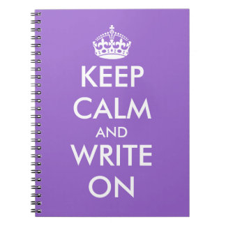 Guarde la calma y escriba en personalizable del notebook